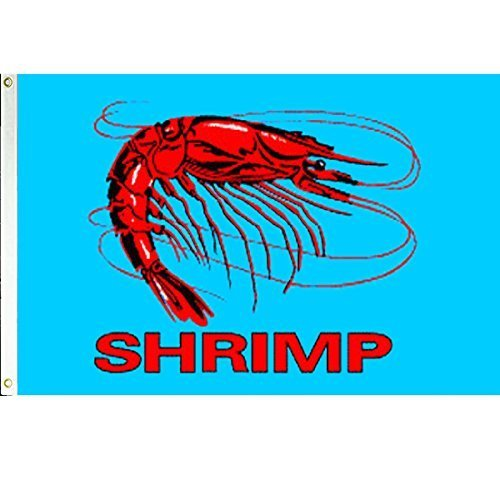 Shrimp  3x5 Polyester Flag by Vista Flags