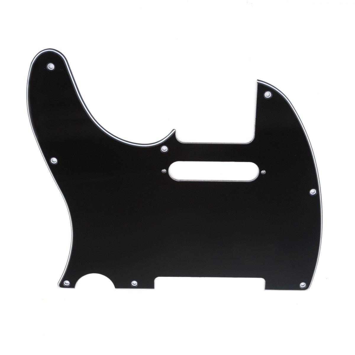 Musiclily 8 Agujeros Tele Pickguard Golpeador para Zurdos Fender American/México Standard Telecaster Estilo Moderno, 3 capas Negro: Amazon.es: Instrumentos ...
