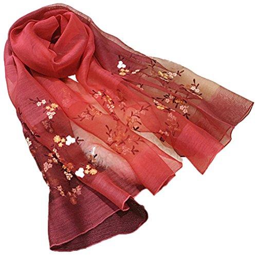 Tul 5 Verano Todo Playa de Anti bufanda Colorido mezclados Mujer seda Turismo Bufanda 1 Gris Uv bordado Colores ZZwrCq7d
