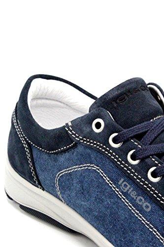 Tessuto E Igi Blu Pelle Made In Uomo 11139 Italy Sneaker amp;co Scarpa OOrx0w8q