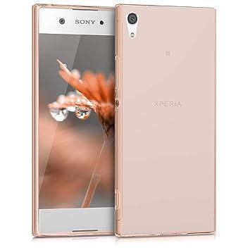 kwmobile Funda para Sony Xperia XA1 - Carcasa Protectora de [TPU] para móvil - Cover [Trasero] en [Oro Rosa]