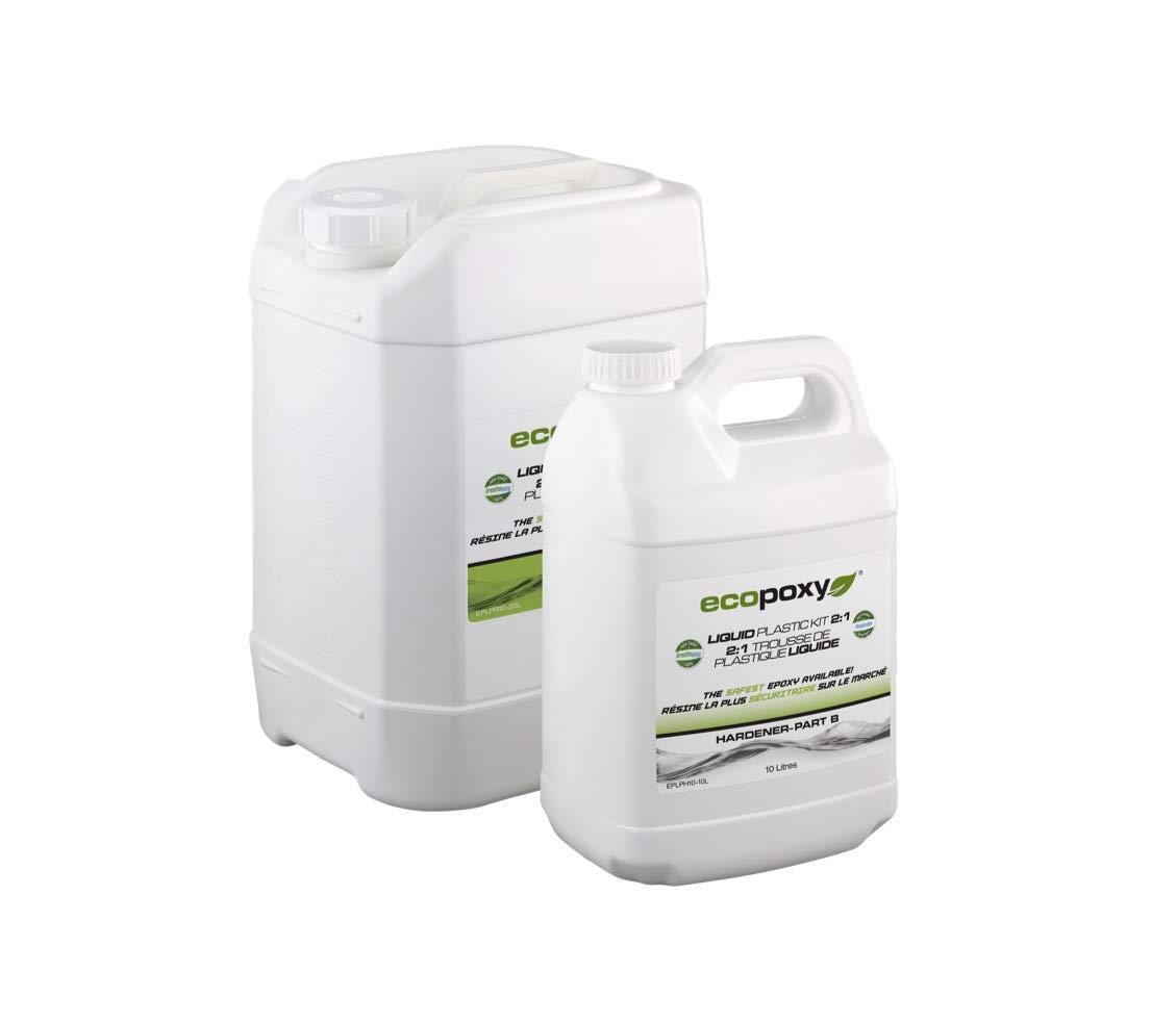 EcoPoxy - Liquid Plastic (1, 30 Liter - 2:1 Ratio)