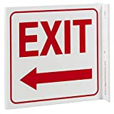 ZING 2569 Eco Safety L Sign, Exit Left Arrow, 7Hx2.5Wx7D, Recycled Plastic