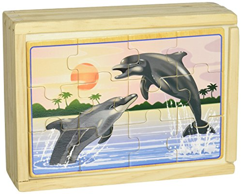 Melissa & Doug Sea Life 4-in-1 Wooden Jigsaw Puzzles in a Storage - 4in Box 1