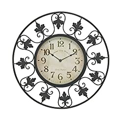 Woodland Imports Decorative Metal Outdoor Wall Clock