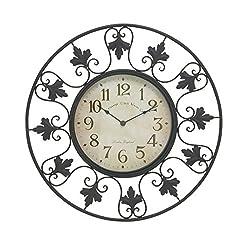 Deco 79 29068 Metal Outdoor Wall Clock 23 D
