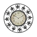 Deco 79 29068 Metal Outdoor Wall Clock 23'' D