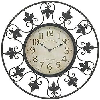 Amazon Com Chaney 13179 Fleur De Lef Clock Home Amp Kitchen