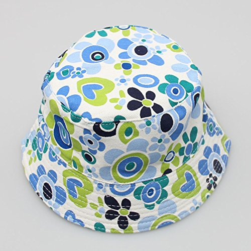 Crytech Toddler Kids Bucket Hat, Breathable Cotton Uv Protection Sun Hats Floral Print Fishing Hat Fashion Casual Foldable Fisherman Cap for Outdoor Travel Hiking Camping for Baby Boys Girls (Size:3)