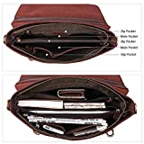 Kattee Genuine Leather Messenger Bag Tote 15.6 Inch