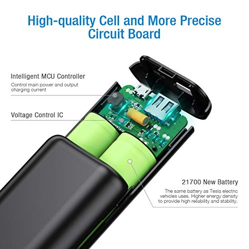 POWERADD EnergyCell 10000, Ultra-Compact High-Speed Charging Portable Charger, Smallest and Lightest 10000mAh Power Bank Compatible for iPhone 11 XS X 8 Plus Samsung S10 Google LG iPad and More
