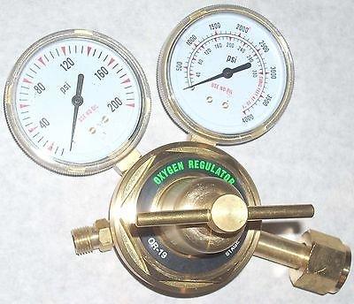 "Oxygen Regulator for Cutting Welding Gas OR-19 Heavy Duty 2 1/2"" Gauges"