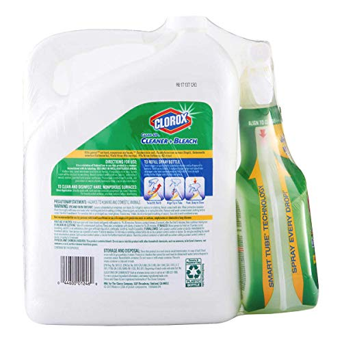 Clorox Clean-Up Cleaner Spray with Bleach and Refill Combo, 32 Ounce Spray Bottle + 180 Ounce Refill (1 Combo Pack)