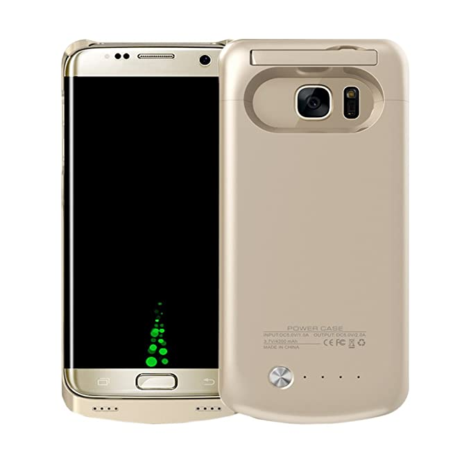 buy online 7a4c0 ae986 Idealforce Samsung Galaxy S7 Battery Case,4200mAh External Power Bank Cover  Portable Charger Protective Charging Case for Samsung Galaxy S7 (Gold)