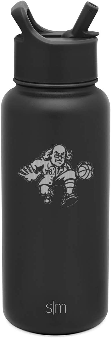 Simple Modern Vacuum Insulated Laser Engraved Stainless Steel Travel Powder Coated Secondary Logo NBA New York Knicks