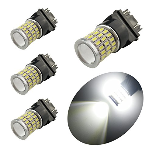 iBrightstar Newest 9-30V Super Bright Low Power 3156 3157 3057 4157 LED Bulbs with Projector Replacement for Back Up Reverse Lights,Tail Brake Lights,Turn Signal Lights,Xenon White(6500K) (Xb 600 Electric Bicycle Moped)