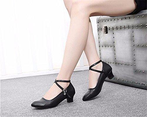 Sqiao Chaussures X-danse Avec Des Semelles En Caoutchouc Souple, 中 Moraillon, Adultes, Danse Danse Danse L'amitié Des Chaussures De Danse Professionnelle Latino, Noir, 36