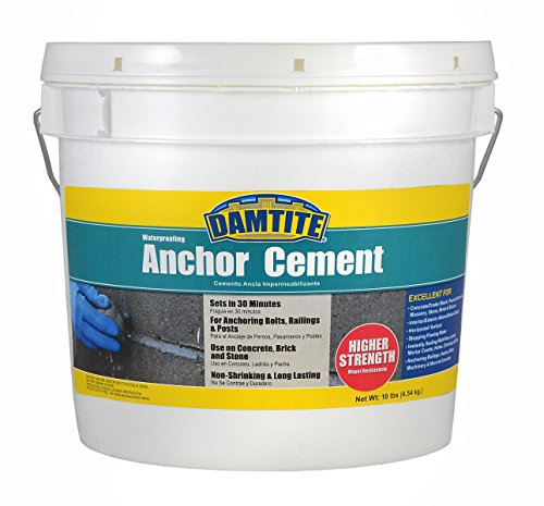 (Damtite 08121 Gray Anchor Cement, 10 lb. Pail)