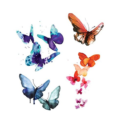 Tattly Temporary Tattoos Watercolor Butterflies Set by Tattly (Image #2)