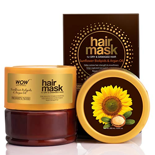 Buy WOW Skin Science Sunflower Biolipids & Argan Oil Hair Mask for