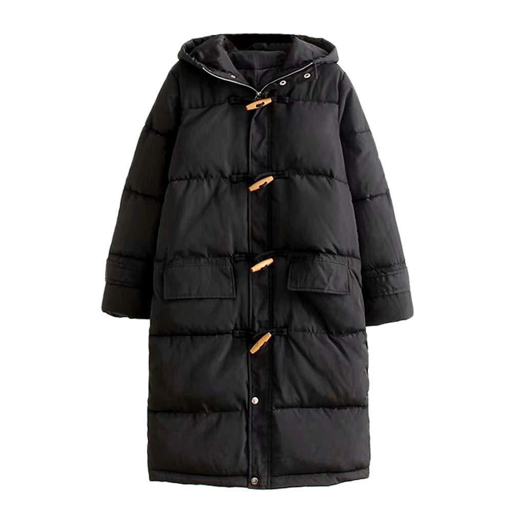 Mikkar Women Hooded Coat Winter Coat Collar Long Jackets Warm Thicken Padded