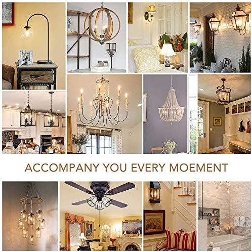 THOUMOU 10 Pcs E14 Light Bulb, 4W LED Filament Light Bulb, 40W Equivalent, Dimmable LED Bulb, 2700k 300Lumen Warm White