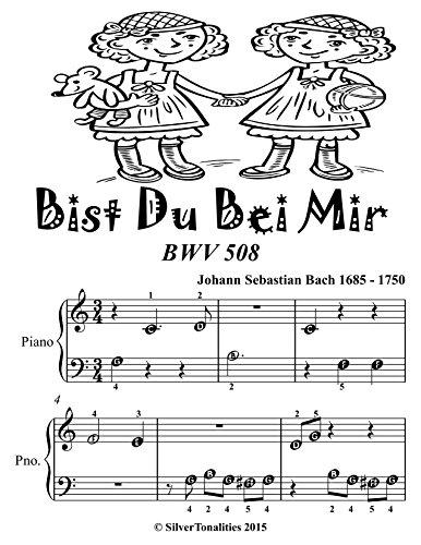 Bist Du Bei Mir Bwv 508 Beginner Piano Sheet Music Tadpole