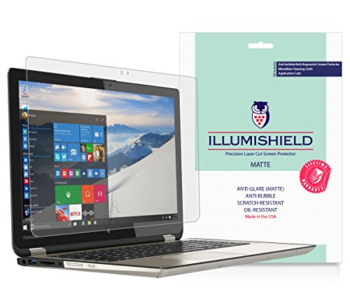 "iLLumiShield - Toshiba Satellite Radius 15.6"" Matte Screen Protector (2015) w/ Lifetime Warranty / Anti-Glare HD Clear Film / AntiBubble & AntiFingerprint / Invisible Shield [1-Pack] Only P55W-B5112 -  ILS21017-AG"