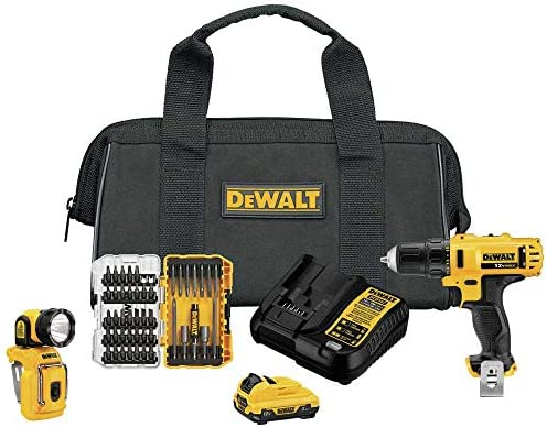 DeWALT DCK214F1 12V MAX 2-Tool Combo Kit w/ 45PC Screwdriving TOUGHCASE Set