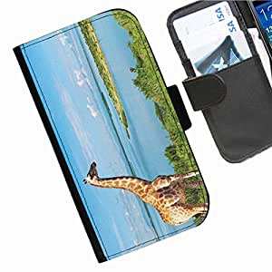 Hairyworm - Animals Sony Xperia J (ST26i/ST26a) leather side flip wallet cell phone case, cover
