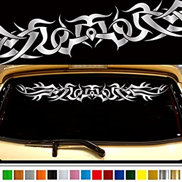 Tribal car sticker rear09 car custom stickers decals 【8 colors to choose from】 japan
