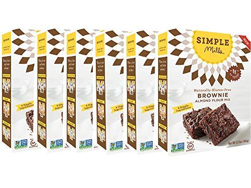 Simple Mills Almond Flour Mix, Brownie, 12.9 oz, 6 count