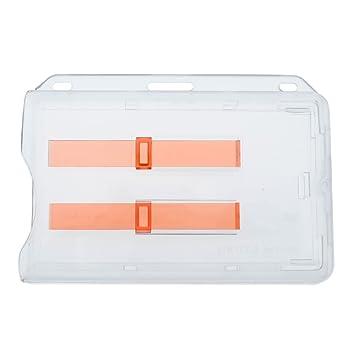 Esmerilado Horizontal rígida 2-card dispensador con rojo extractor diapositivas: Amazon.es: Oficina y papelería