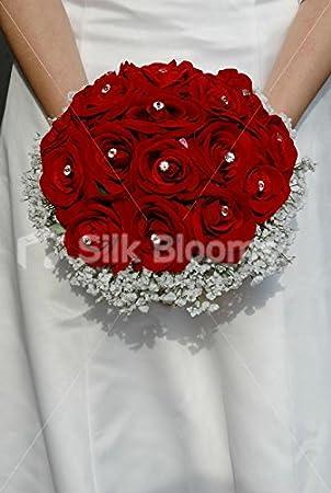 Rot Weiss Hochzeit Bouquet Rose Und Gladiolen Hochzeit Blumen