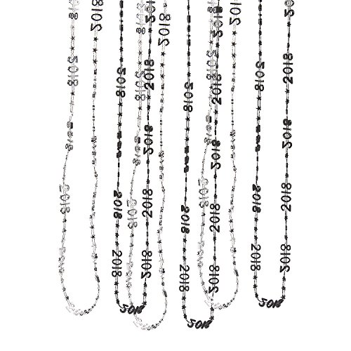 2018 Silver & Black Bead Necklaces