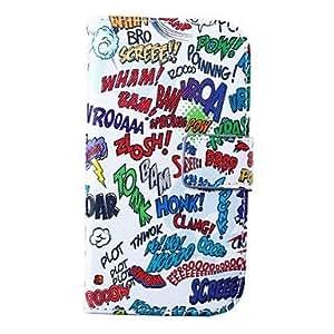 GX Teléfono Móvil Samsung - Carcasas de Cuerpo Completo/Fundas con Soporte - Gráfico - para Samsung S4 I9500 ( Multi-color , Cuero PU )