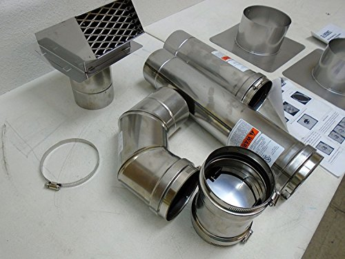 Z Flex 2zvw04 4 Quot Horizontal Stainless Steel Z Vent Water