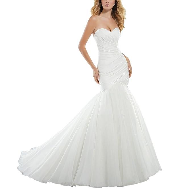 Amazon.com: Tutu. VIVI Sweetheart sirena vestidos de boda ...