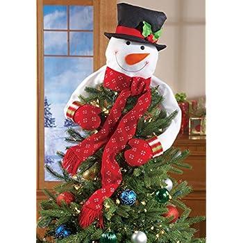 Christmas Snowman Top of the Tree Hugger