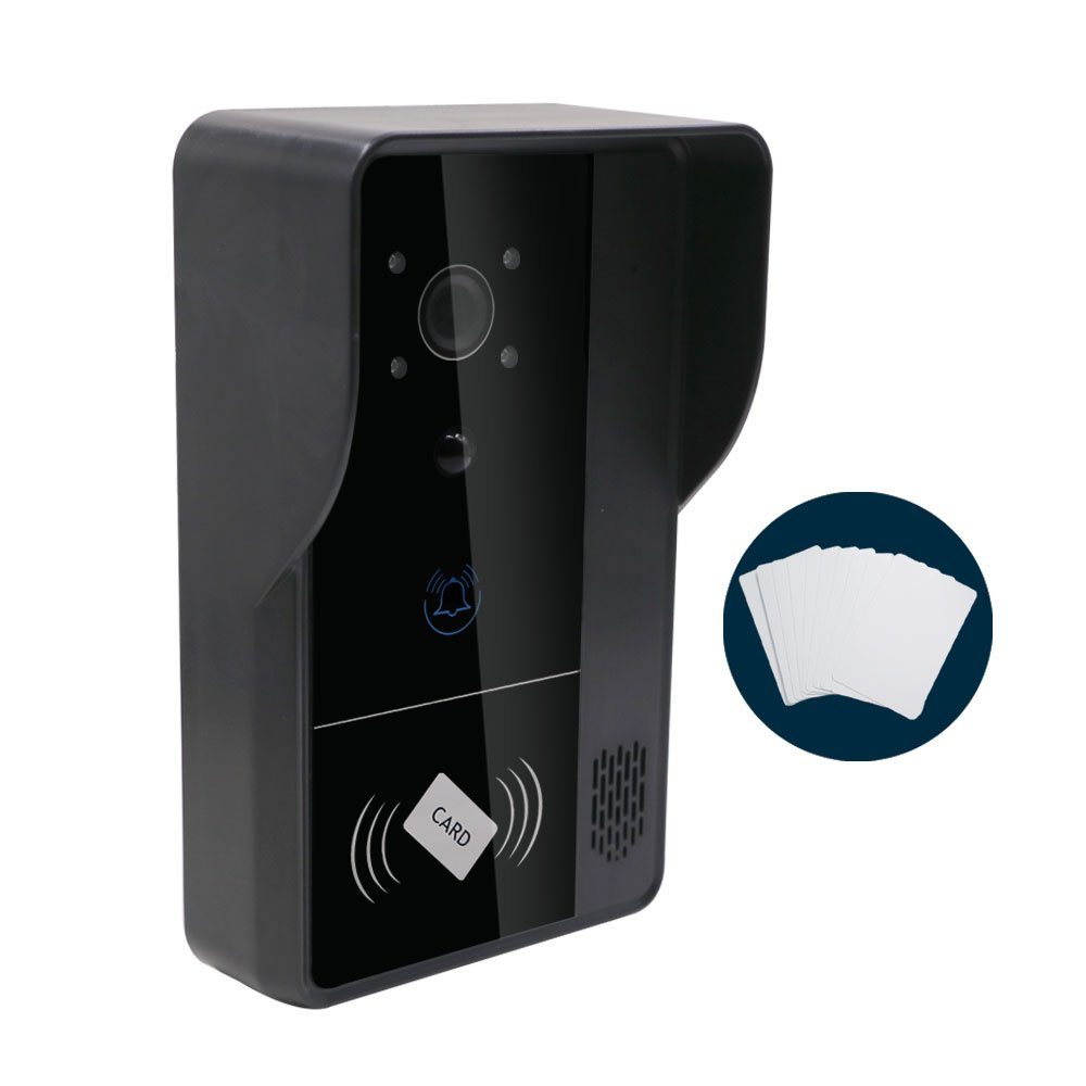 Zision ZS-WD01 720P HD Video WIFI Doorbell, Audio,Network Phone Call,Smart App,Motion Monitor With 10 key card,Night Vision,Free Cloud Storage