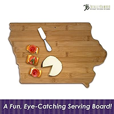 "Totally Bamboo State Cutting & Serving Board – ""ALABAMA"", 100% Organic Bamboo Cutting Board for Cooking, Entertaining, Décor and Gifts. Designed in the USA!"