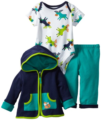 UPC 883953459701, Offspring - Baby Apparel Boys Newborn Forest 3 Piece Jacket And Pant Set, Navy Multi, 6 Months