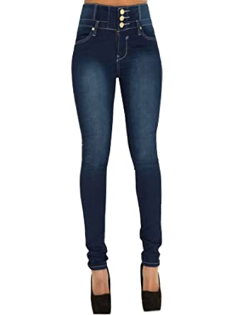 5576a8ba86c95 Minetom Femmes Taille Haute Skinny Denim Pantalon Collants Stretch Slim Fit Jeans  Pantalons Crayon Pants Vintage