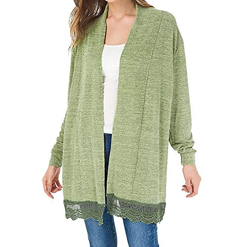 G-real Fall Winter Bouse for Women, Long Sleeve Kimono Cardigans Lace Cover up Loose Blouse Tops by G-real (Image #1)