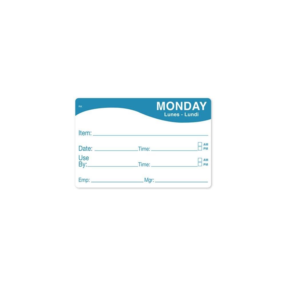 DayMark 1124671 ReMark 2 x 3 Monday Day Label - 500 / RL