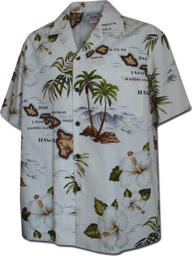 Pacific Legend Mens Anthurium Bird of Paradise Shirt