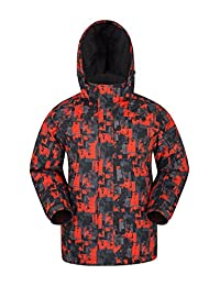 Mountain Warehouse Shadow Mens Printed Ski Jacket - Warm Snow Jacket Bright Orange Large