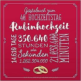 Ortsschild Bild Rubinhochzeit Hochzeit Hochzeitstag 40 Jahre