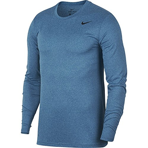 Nike Dry Training Top Mens Shirt Size X-Large Fitness/Workout Gym Blue/Polarized Blue/Htr/Black