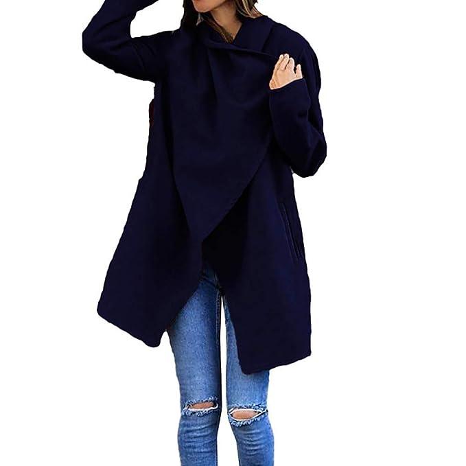 Yvelands Outwear para la Mujer Polar, Abrigo de Lana de Invierno Womens otoño Bolsillo de Lana Outwear Top: Amazon.es: Ropa y accesorios